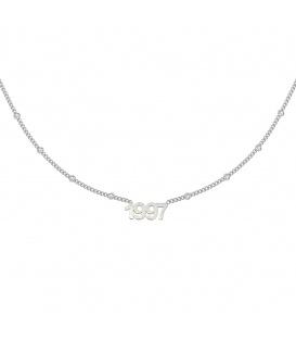 Zilverkleurige halsketting met jaartal 1997
