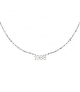 Zilverkleurige halsketting met jaartal 1998