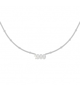 Zilverkleurige halsketting met jaartal 1999