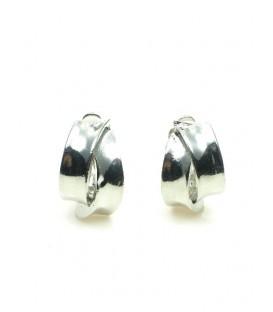 Zilverkleurige oorclips