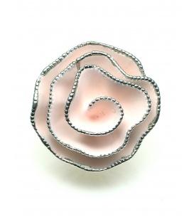 Lichtroze bloem oorclips