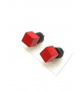 Vierkante oorknopjes oorbellen van Tjonge Jonge