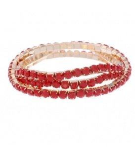 Rode armband van 3 rijen