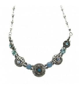 Turquoise korte halsketting met mooie elementen