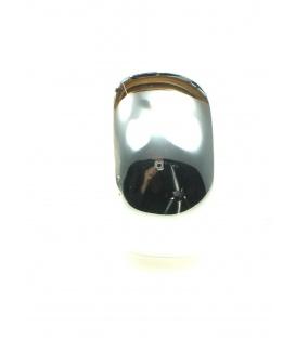 Grote zilverkleurige halfronde oorclips