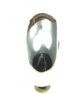 Gladde metalen halfronde oorclips