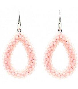Licht roze kralen oorbellen