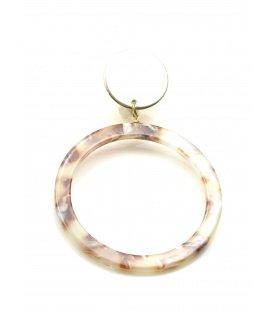 Oorclips met ronde hanger