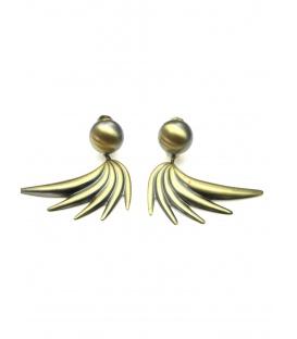 Mooie bronskleurige oorclip oorbellen